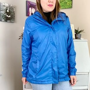 Sears Vintage Blue Hooded Windbreaker Jacket